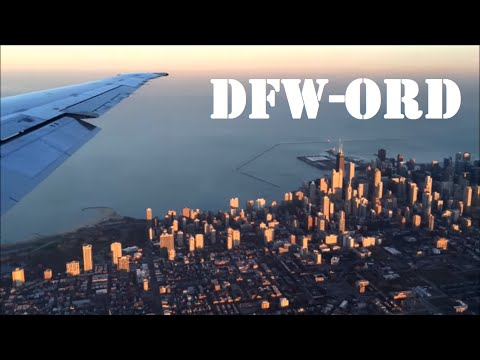 American Airlines MD-80 - Dallas/Fort Worth to Chicago O'Hare [Great Views of Downtown Chicago]