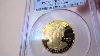 2015 W 10ドル金貨 ベス・トルーマン$10 PCGS PR70DCAMFirst Strike