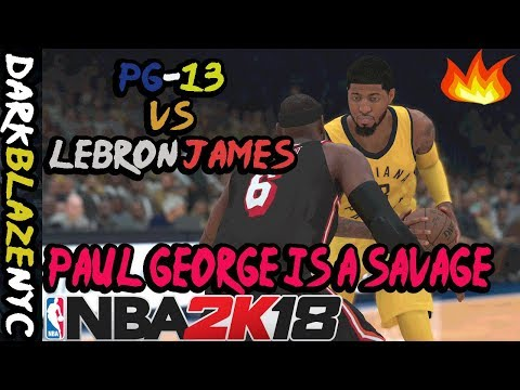 NBA 2K18 Play Now Online - All Time Indiana Pacers - Paul George Had Three Crazy Best Dunks