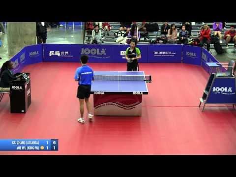 2012 JOOLA/NATT Teams Quarterfinal Match 7 - Yue (Jennifer) Wu vs Kai Zhang