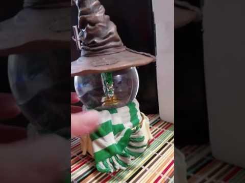 Harry Potter Slytherin Crest Water Globe San Francisco Music Box