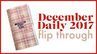 December Daily 2017 Junk Journal Flip Through