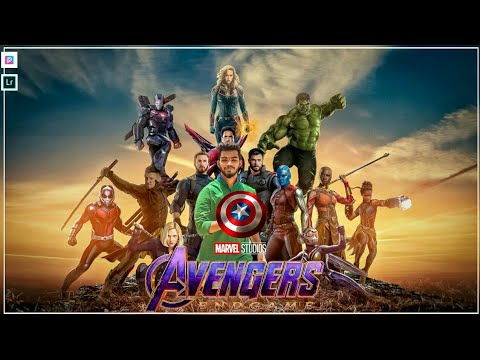 AVENGER ENDGAME Poster Photo Editing 2019 In PicsArt, Lightroom CC And  Snapseed  || GSE ||