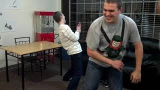 Ninja slapping game at GLARE