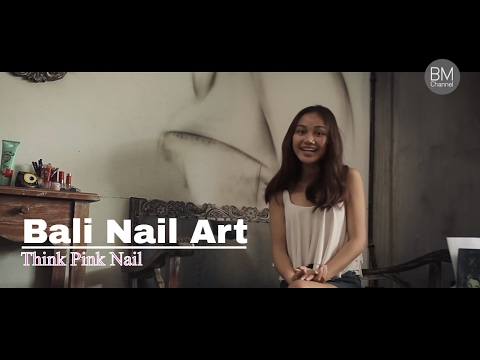 Bali Beauty : Nail Art in Bali ( Things to do in Bali ) Think Pink Nail