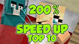 Speed Up 200% -Top 10 Minecraft Song Animations, Music 2017! Top 10 Best Minecraft Music Videos Ever
