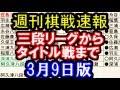 【週刊棋戦速報】三段リーグからNHK杯、藤井七段の最高勝率記録まで 3月9日版