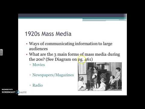 11/17/17 - Comparing Mass Media in the 1920s to today