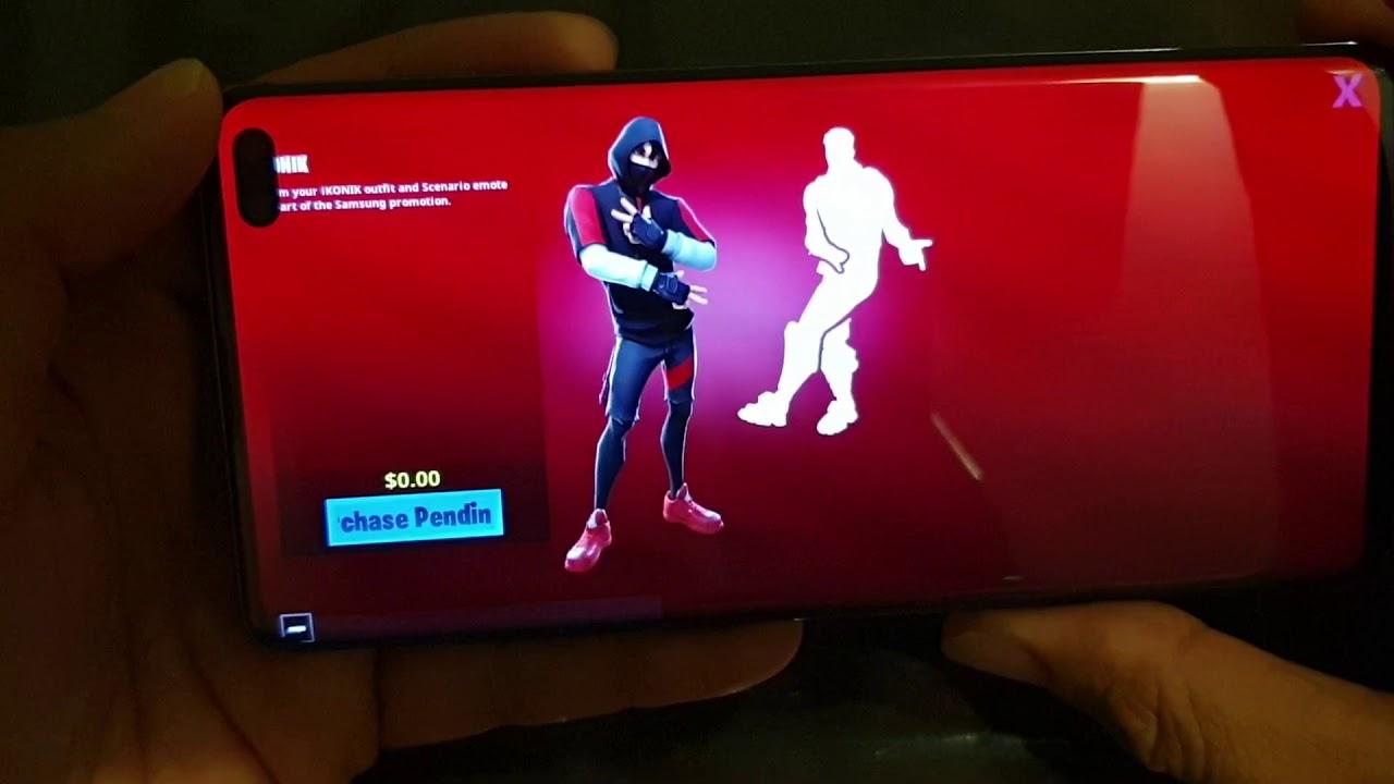 Just Unlocked Fortnite Ikonik Skin Just Released Samsung Galaxy S10 S10e S10