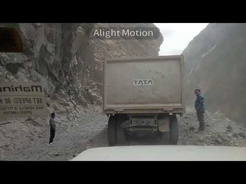 World's most dangerous roads// but fascinating either// way between Spiti India//