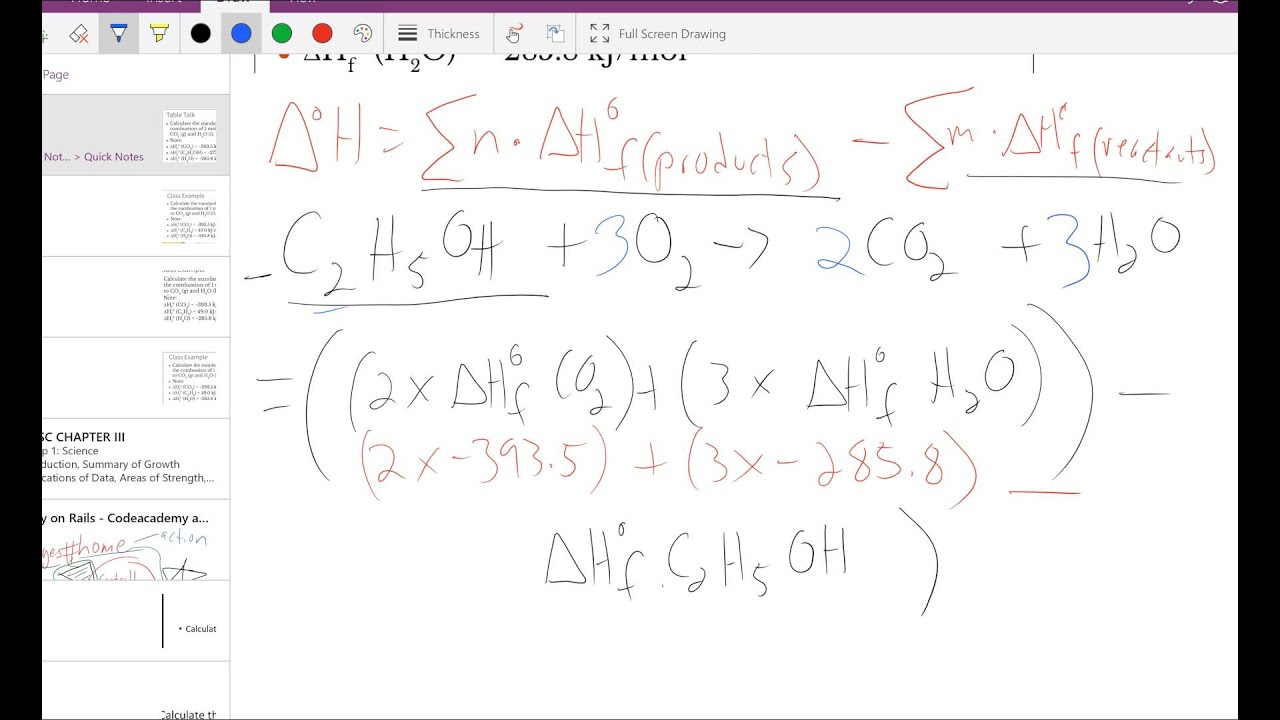 balance the following chemical equation and calculate standard enthalpy