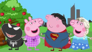 Свинка Пеппа на Русском: Веном, Человек-Паук, Эльза и Супермен персонажи