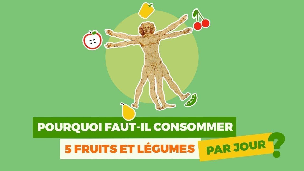3 portions de légumes et 2 fruits par jour soit environ 500 grammes/jour