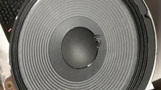 """JBL 2226H 15"""" Professional Series Woofer Re-Cone! Part 2 of 3."""