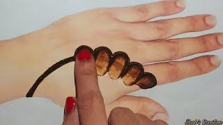 vuclip New Easy Shaded Arabic Mehndi for Hands   Finger Mehendi Trick for Beginners  Simple Mehandi Design