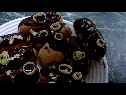 эклеры со сливками в домашних условиях рецепт