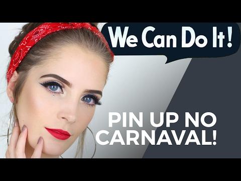 Maquiagem de Pin Up pro carnaval 2017 (+ penteado) | Luiza Rossi