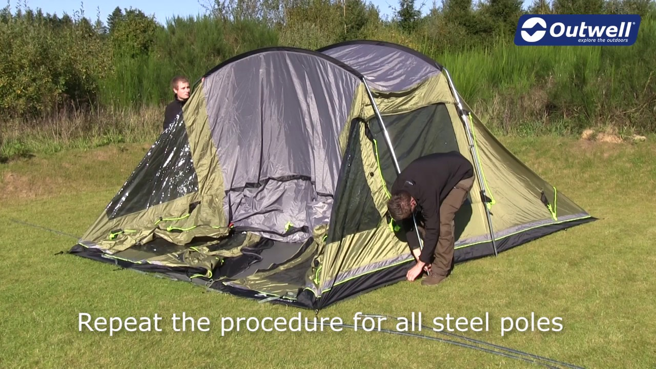 How to pitch an Outwell tunnel tent with steel and Duratec poles | Innovative Family C&ing & How to pitch an Outwell tunnel tent with steel and Duratec poles ...