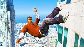 GTA 5: Jumping off Highest Buildings - Funny Moments