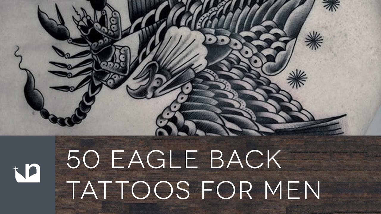 50 Eagle Back Tattoo Designs For Men – Flying Bird Ink Ideas