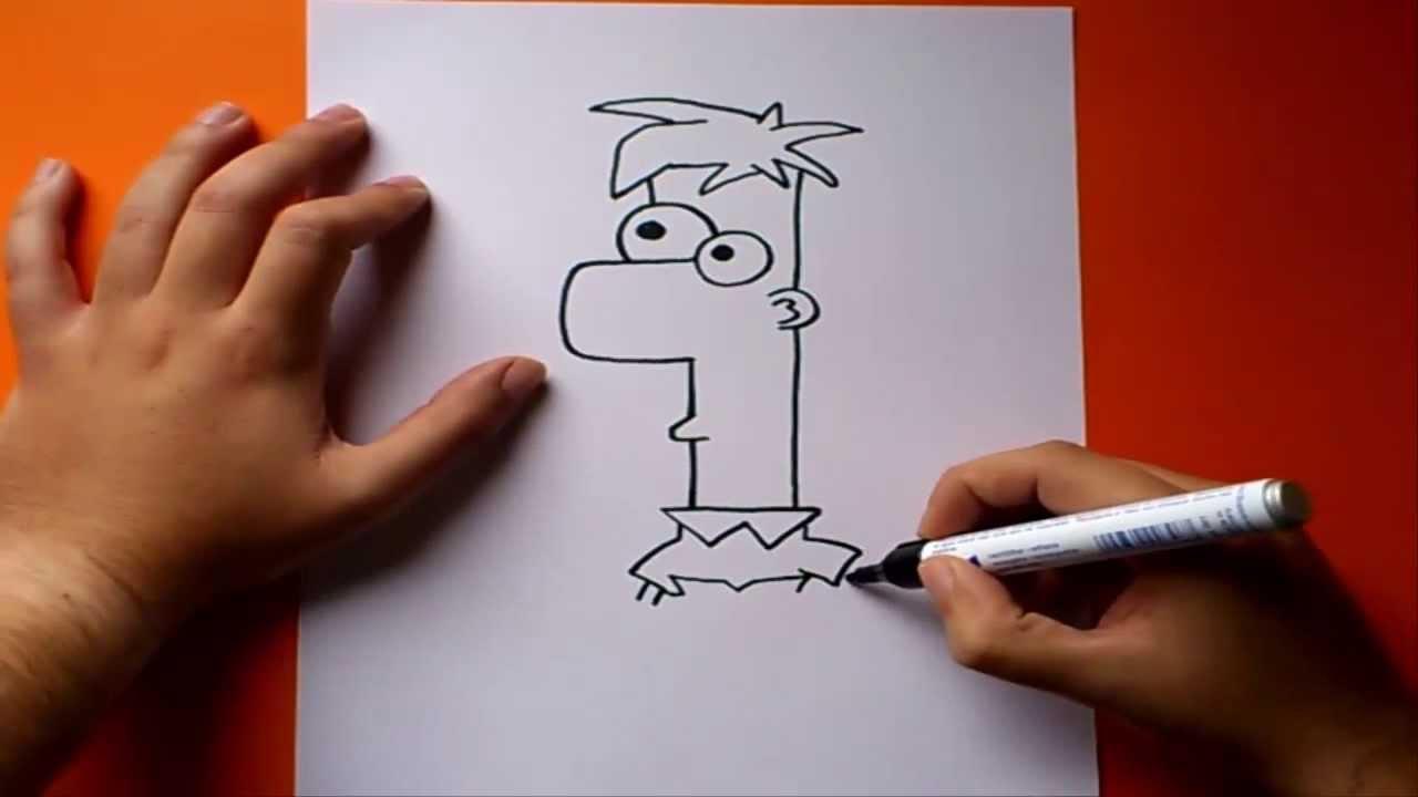 Como dibujar a ferb paso a paso phineas y ferb how to for Silla facil de dibujar