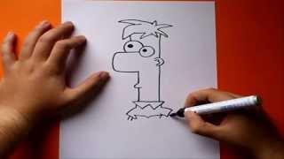 Como dibujar a Ferb paso a paso - Phineas y Ferb | How to draw Ferb - Phineas y Ferb