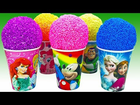 Thumbnail: Learn Colors Play Foam Surprise Toys Disney Princess Mickey Mouse Frozen Elsa Buzz Lightyear