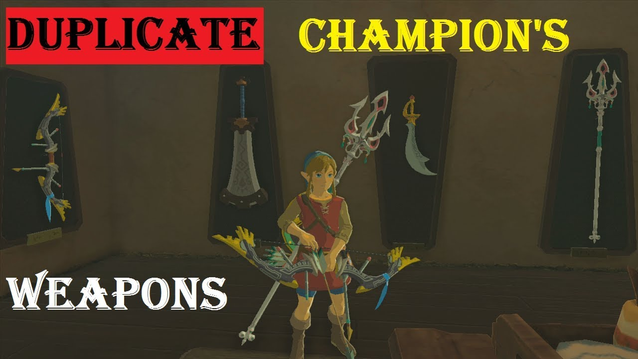 Ultimate Glitch!! Unlimited Champion's Weapons!! Zelda BotW