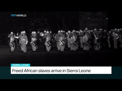 Freed African slaves arrive in Sierra Leone