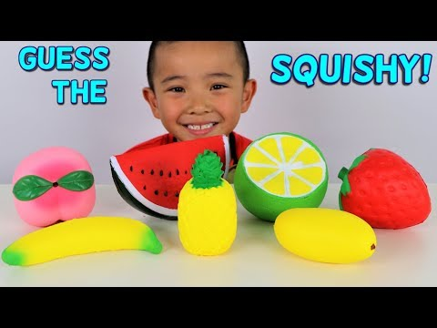 GUESS THE SQUISHY Toys Challenge Kids Fun Game With Ckn Toys