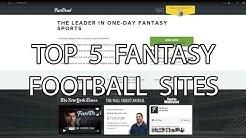 Top 5 Fantasy Football Sites