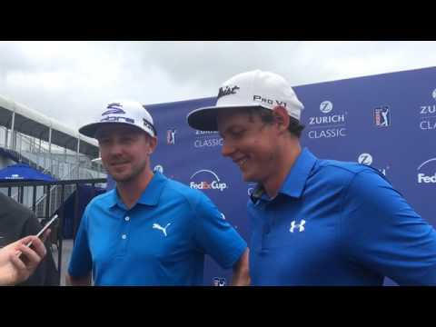 Jonas Blixt and Cameron Smith on their second round performance in the 2017 Zurich Classic
