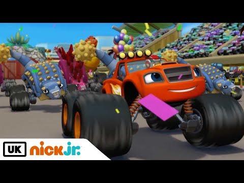 Blaze and the Monster Machines | Dinosaur Parade | Nick Jr. UK