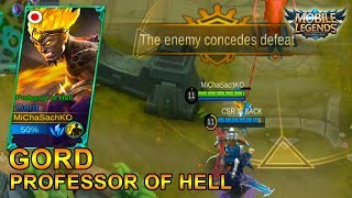 Gord Skin Professor Of Hell Gameplay - Mobile Legends Bang Bang