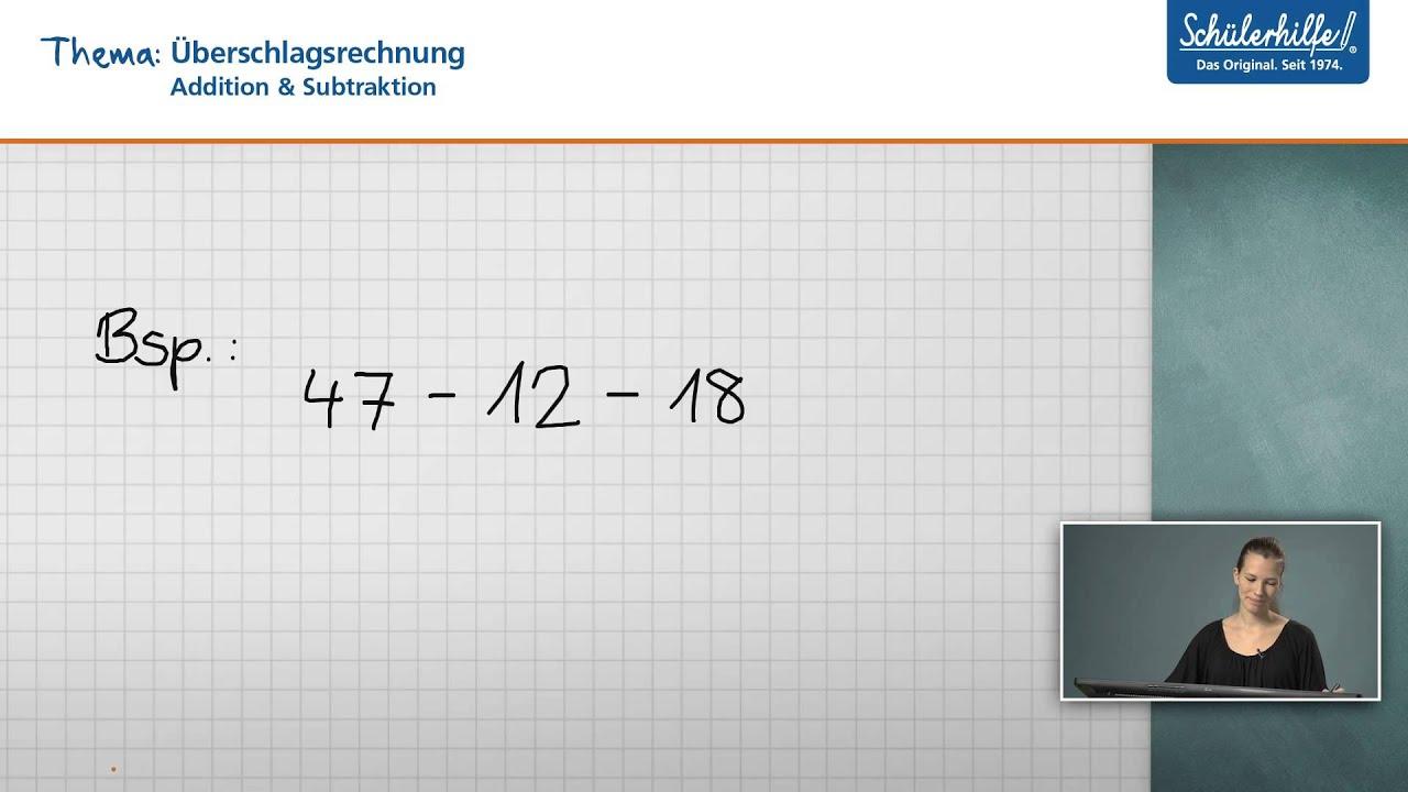Überschlagsrechnung // Addition & Subtraktion // Mathematik ...