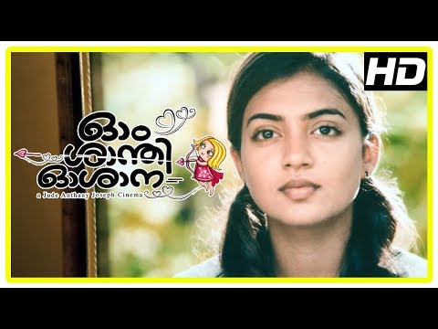 Ohm Shanthi Oshaana Movie Scenes | Title Credits | Neelakasham song | Nazriya intro
