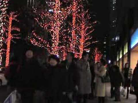 people in Tokyo, Marunouchi  Xmas-Eve