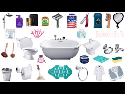 Bathroom Things Names, Meaning & Pictures | Bathroom Vocabulary | গোসলখানার জীনিসের নাম