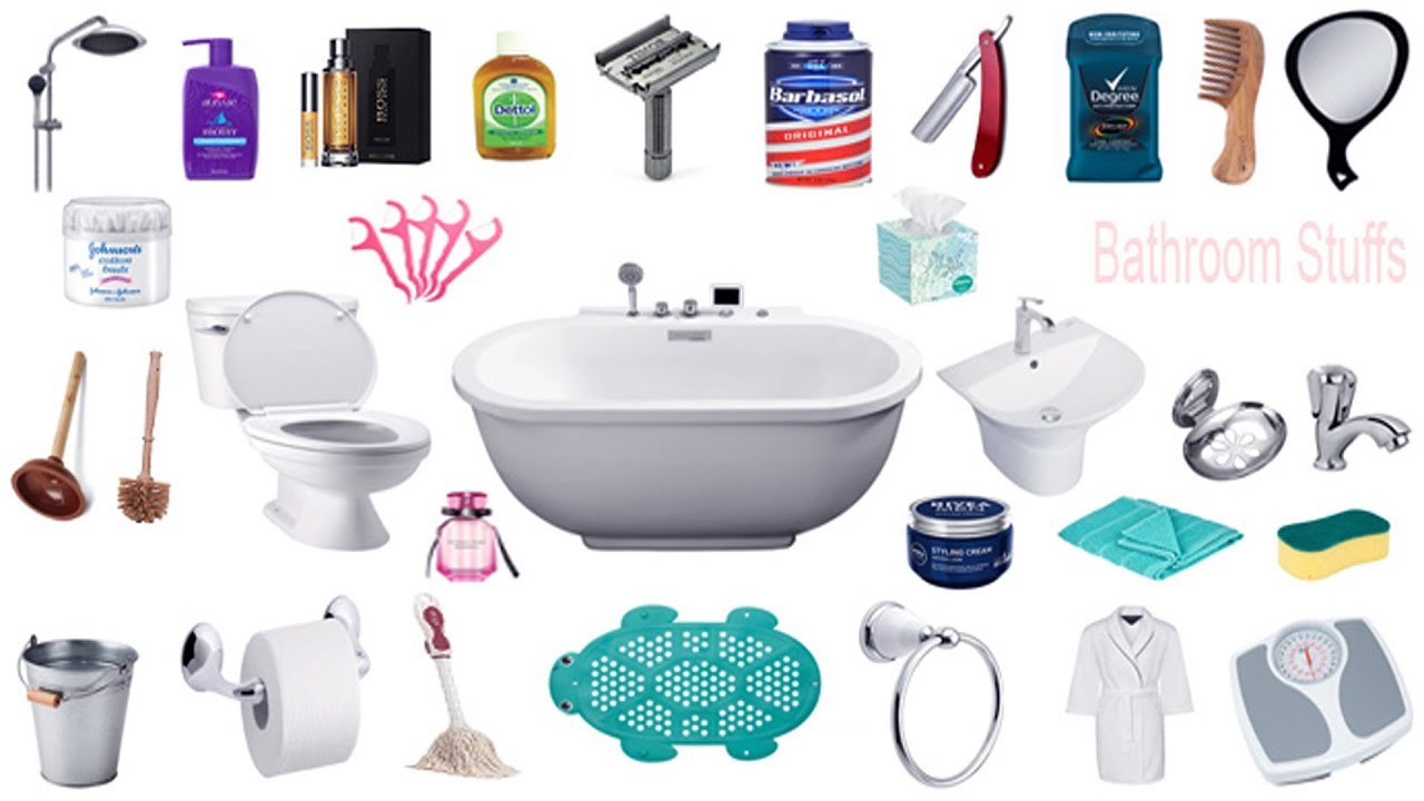 Bathroom Things Names, Meaning & Pictures | Bathroom ...