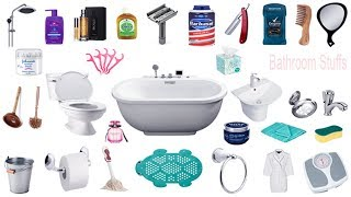 Bathroom Things Names, Meaning & Pictures | Bathroom Vocabulary | গোসলখানার জীনিসের নাম