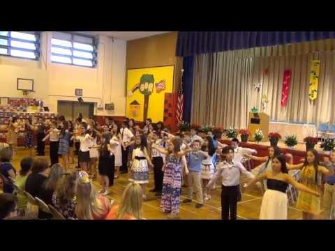 Flash Mob Dance on A P  Willits Elementary School Graduation 20130620