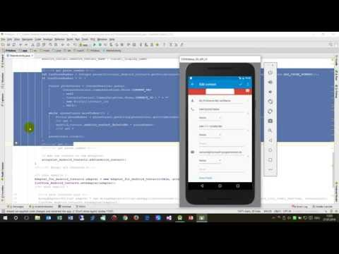 Android Studio #14: Read Contacts and Fill into a ListView