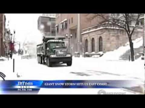 Giant Snow Storm Hits US East Coast - 동영상
