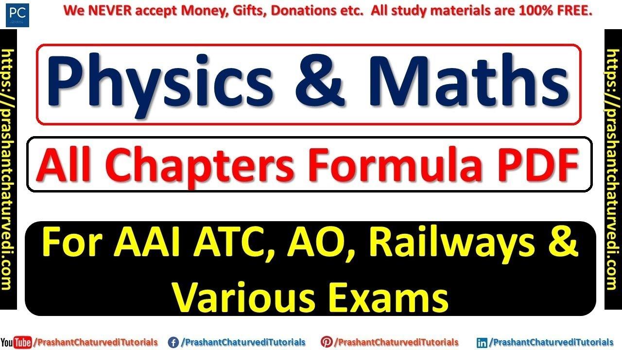 Aptitude Test Formulas Pdf
