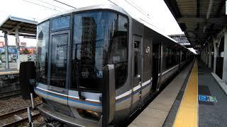 JR琵琶湖線223系2000番台日立IGBT新快速米原方面長浜行き 近江八幡発車