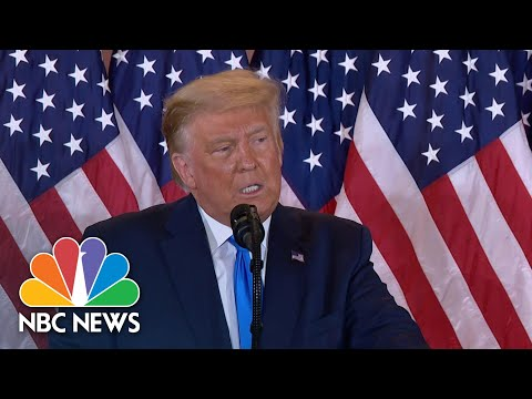 NBC News Cuts Into Trump Speech To Fact Check Him On Election Night | NBC News