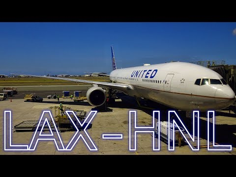 UNITED AIRLINES   LAX-HNL   BOEING 777-200   ECONOMY CLASS