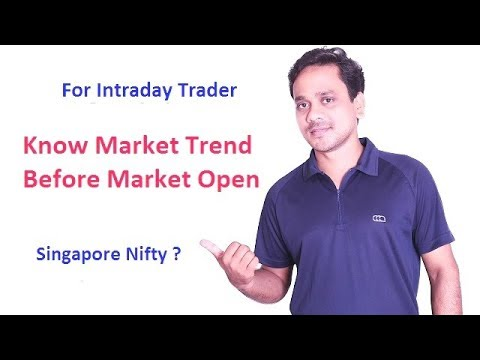 [Hindi] How To Identify Stock Market Trend Before Market Opens? What Is Singapore Nifty? Sgx Nifty?