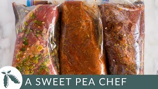 How To Marinate Tri Tip + 3 Tri Tip Marinade Recipes (Freezer Ready Meal Prep!)    A Sweet Pea Chef