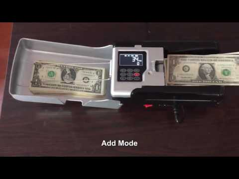 Smallest portable money counting machine with battery working.